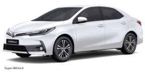 new toyota corolla altis 2017 colours super white