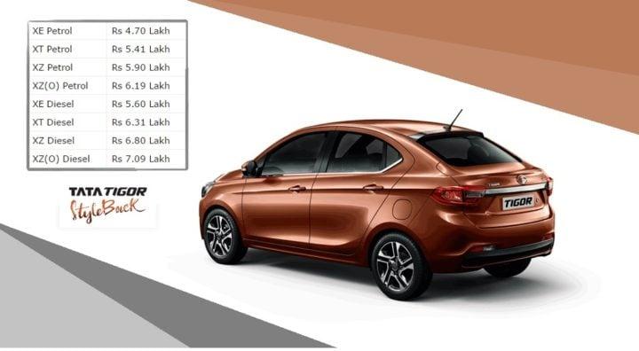 tata tigor test drive review - price image