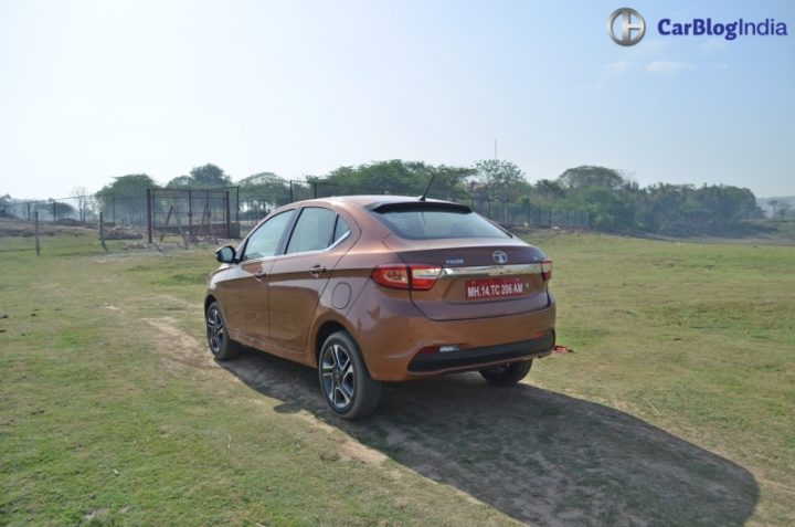 tata tigor review design rear angle
