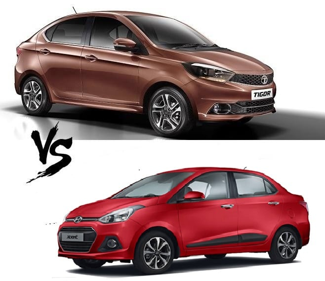 tata tigor vs hyundai xcent comparison