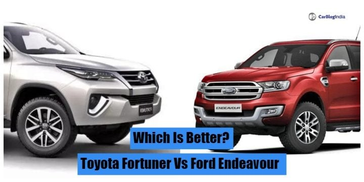Toyota Fortuner vs Ford Endeavour - Specification Comparison
