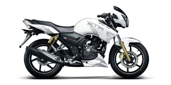 2017 TVS Apache RTR 180 Images side view
