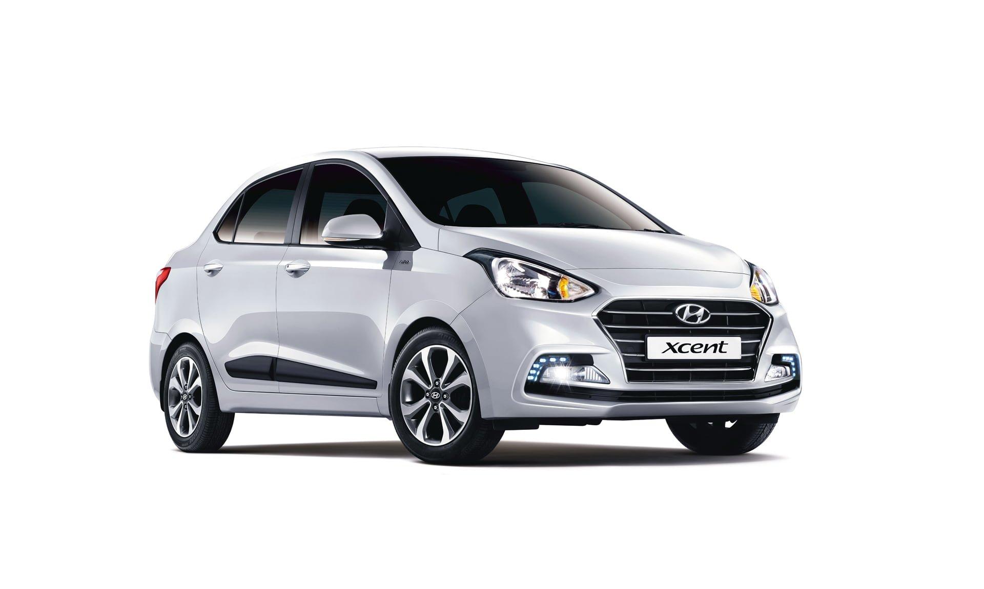New Look Hyundai Xcent 2017 Front Angle Carblogindia