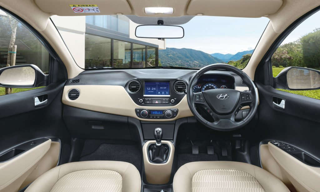 new look hyundai xcent 2017 interiors