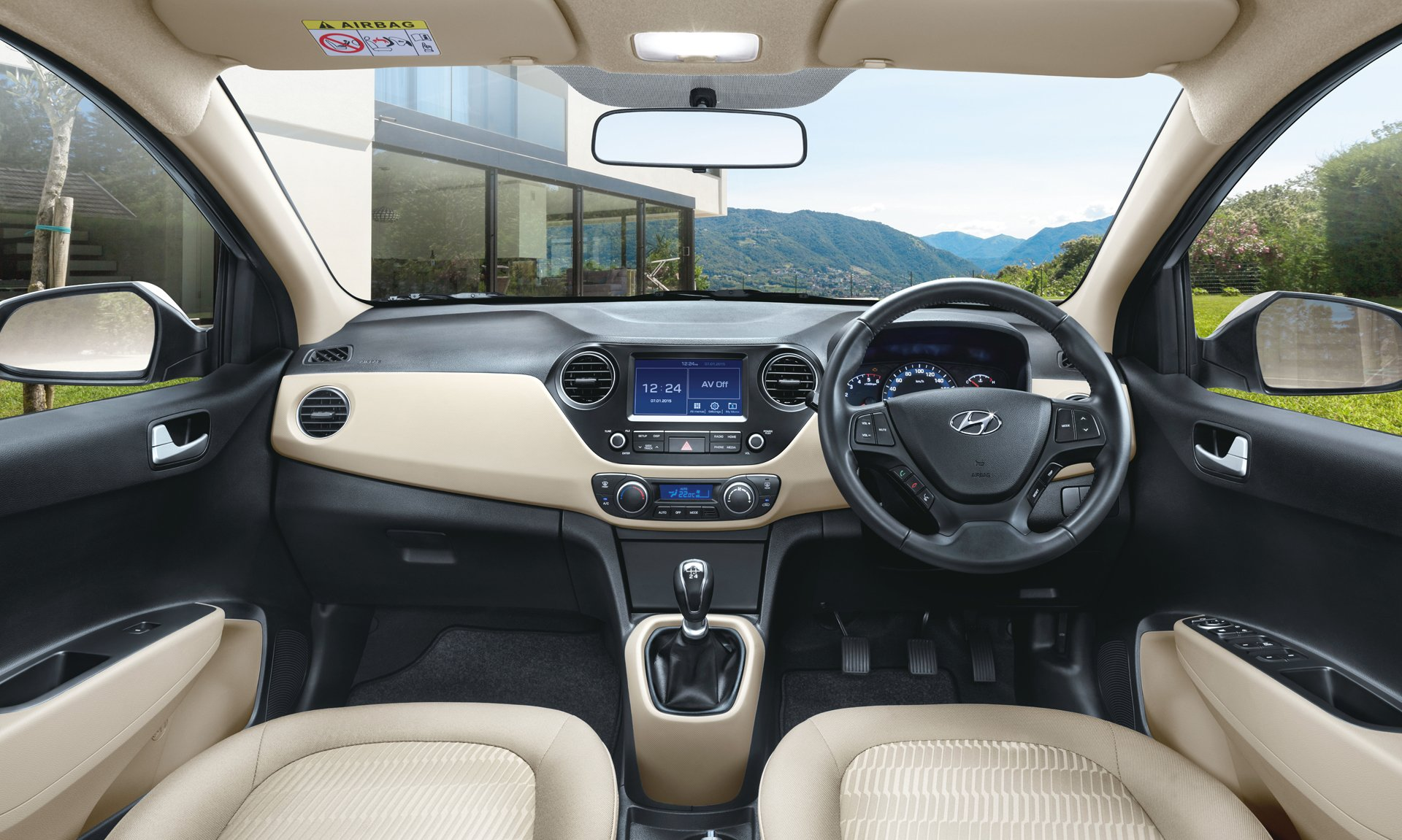 New Look Hyundai Xcent 2017 Interiors Carblogindia