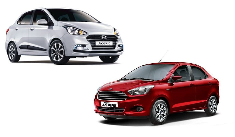 Hyundai Xcent Vs Ford Aspire Comparison Of Price Specifications Features