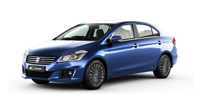 2017 Maruti Suzuki Ciaz Nexa Blue Front Angle Carblogindia