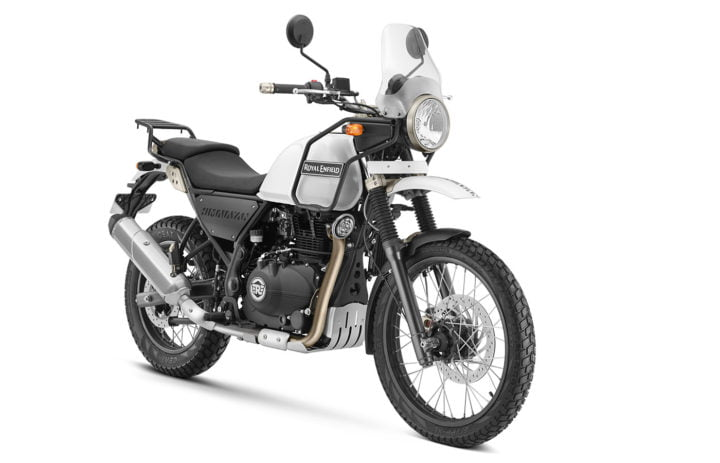2017 royal enfield himalayan fuel injection white front angle