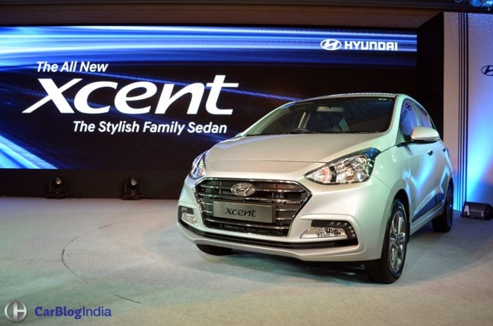 2017 Maruti Dzire vs 2017 Hyundai Xcent - Xcent launch images
