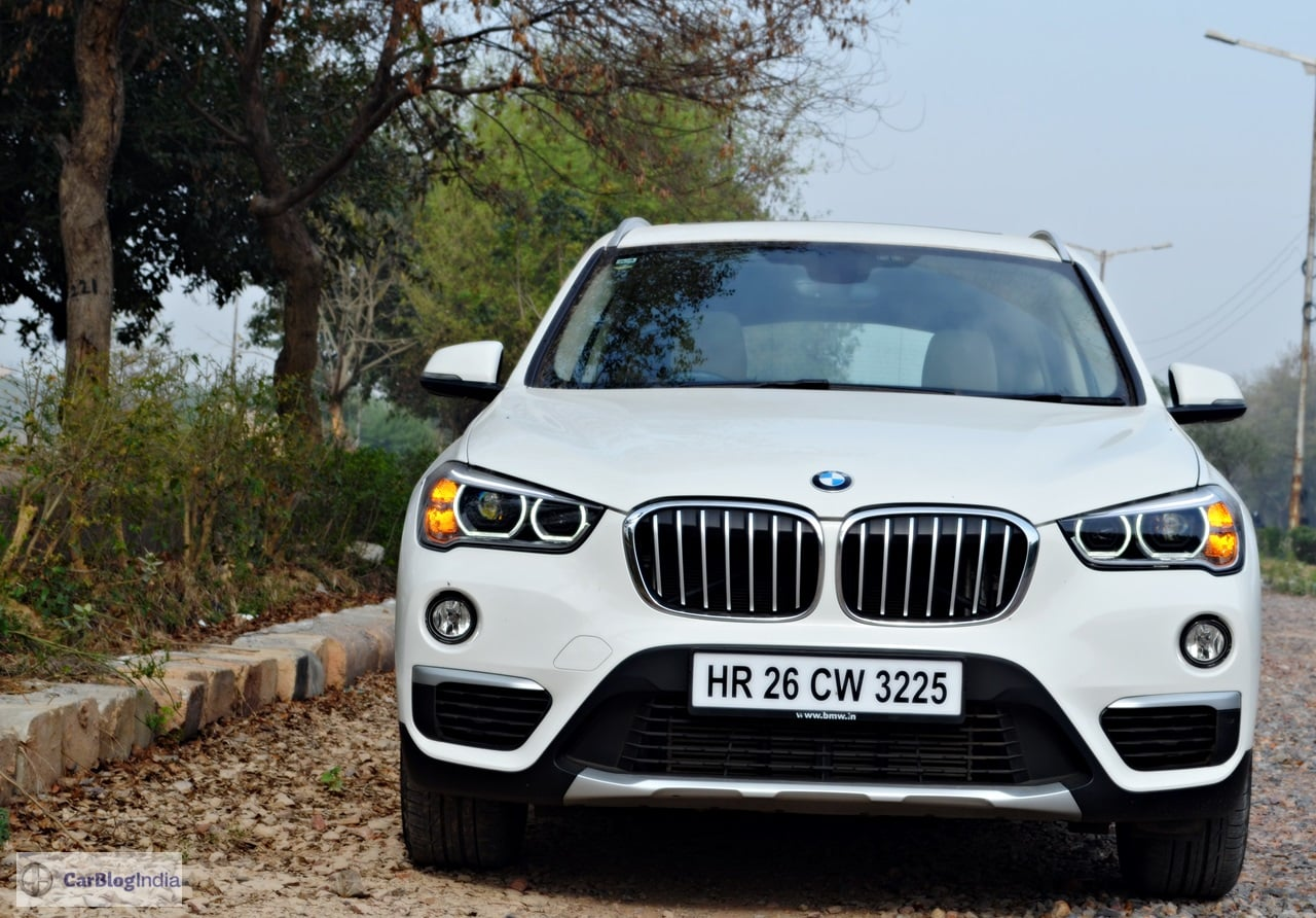 bmw x1 review india images front carblogindia. Black Bedroom Furniture Sets. Home Design Ideas