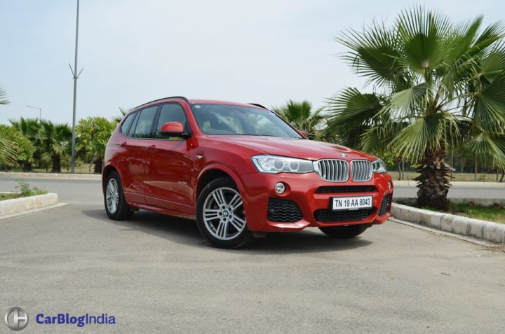 new car discounts on diwali 2017 - bmw x3 test drive review front angle