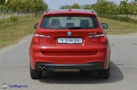 bmw x3 test drive review rear