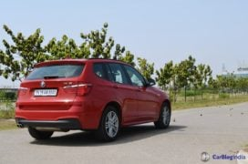 bmw x3 test drive review rear angle