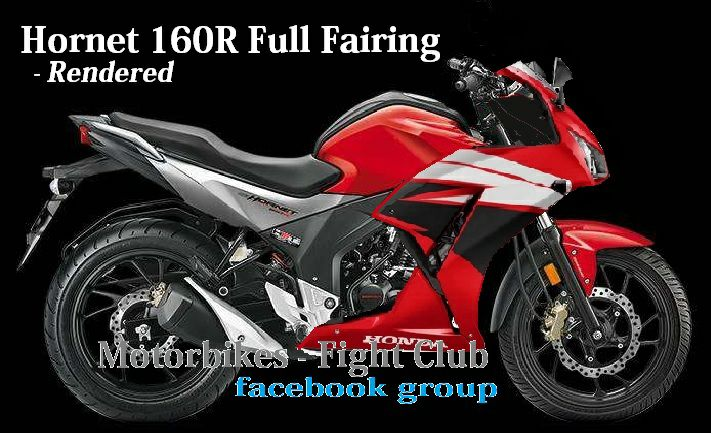 Upcoming New Honda Bikes - Honda CB Hornet 160R Full Fairing