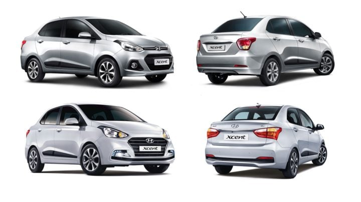 hyundai xcent old vs new