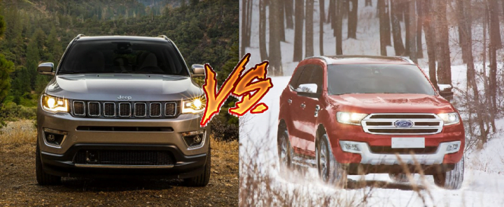 jeep compass vs ford endeavour comparison