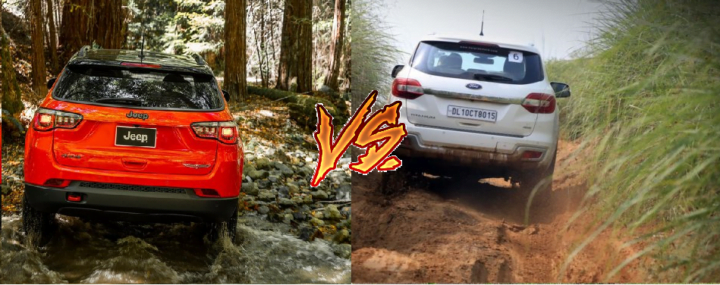 jeep compass vs ford endeavour comparison rear image