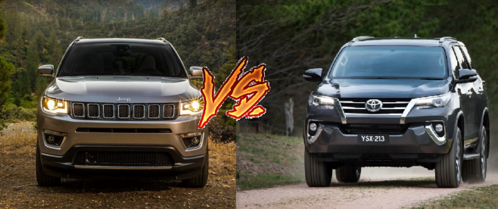 jeep compass vs toyota fortuner comparison
