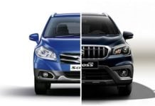 maruti s cross old vs new front