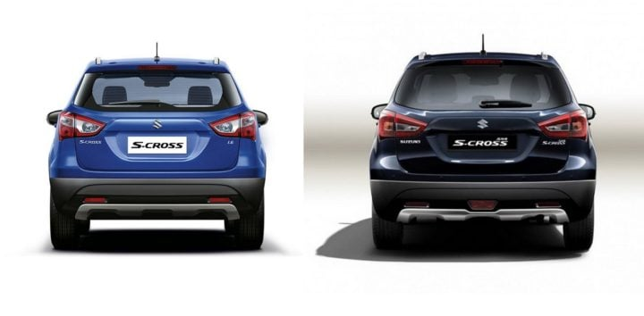 maruti s cross old vs new rear