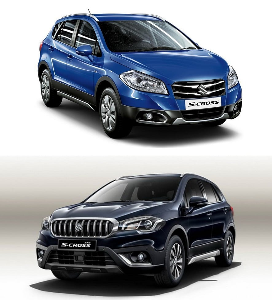 maruti s cross old vs new model comparison of price specifications. Black Bedroom Furniture Sets. Home Design Ideas