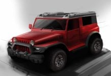 modified mahindra thar by dc design-front