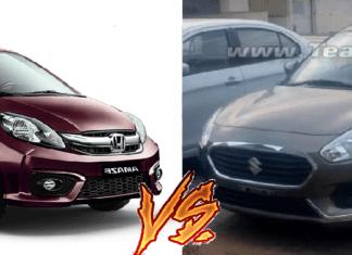 new 2017 maruti dzire vs honda amaze comparison