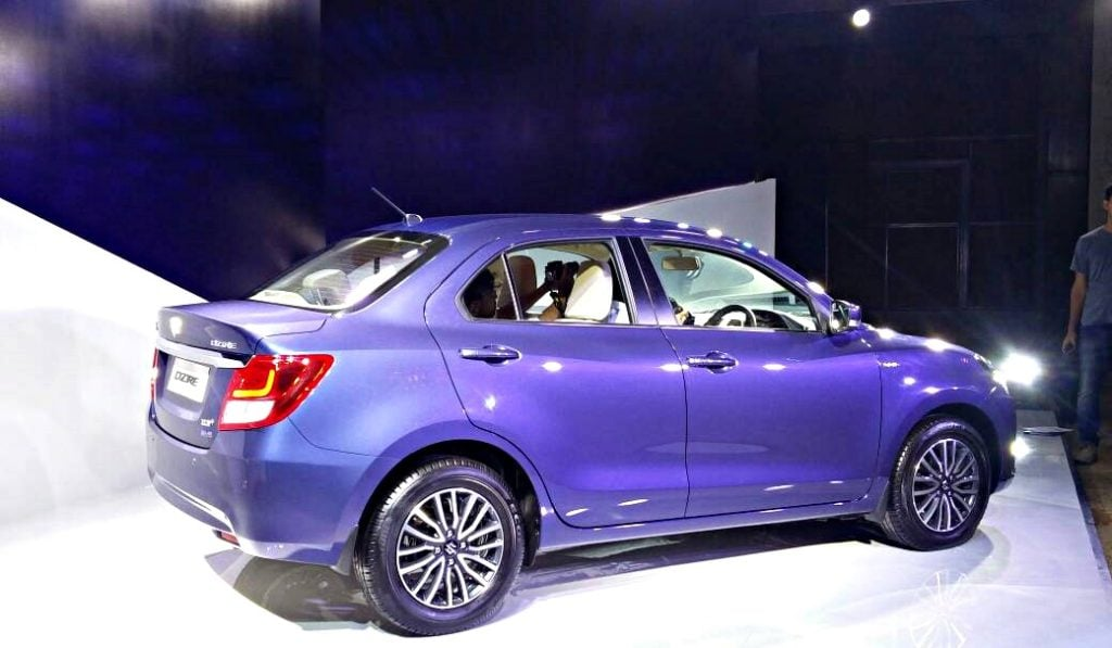 New Look Maruti Dzire 2017 Images Side Profile Carblogindia