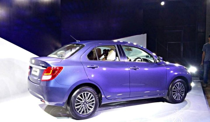 new look maruti dzire 2017 images side profile