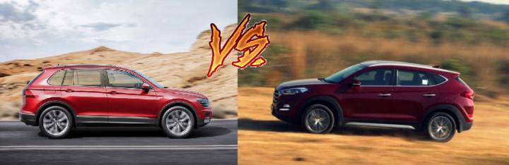 volkswagen tiguan vs hyundai tucson side profile