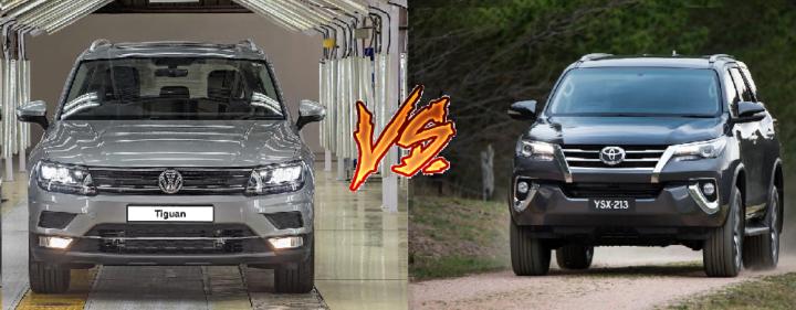 volkswagen tiguan vs toyota fortuner comparison