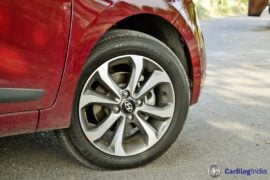 2017 hyundai xcent facelift test drive review alloys