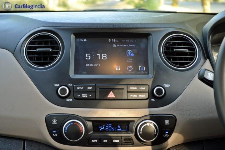 22017 hyundai xcent facelift test drive review touchscreen