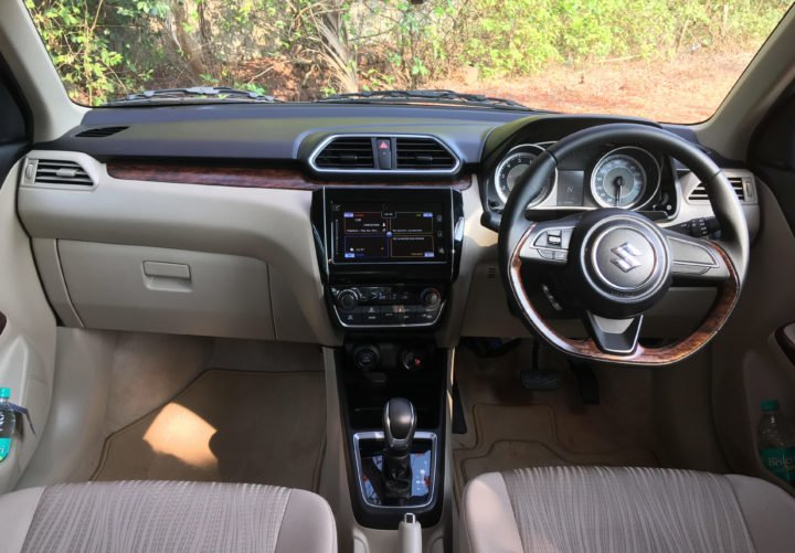 2017 maruti dzire interior dashboard