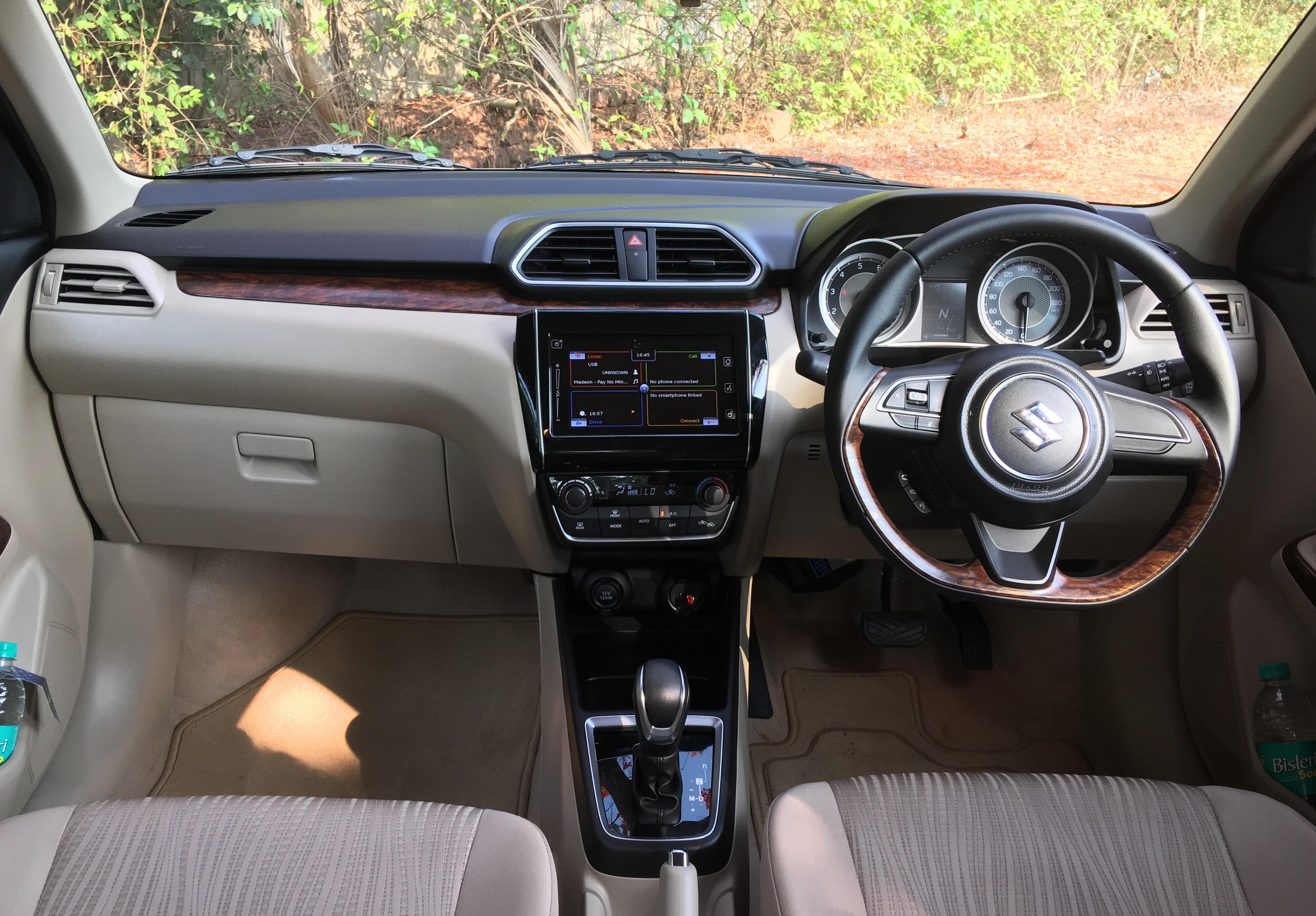 2017 maruti dzire interior dashboard carblogindia for Interior pics
