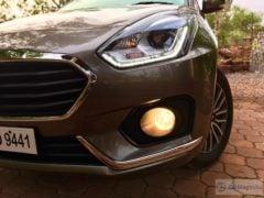 2017 maruti dzire test drive review front headlight foglight