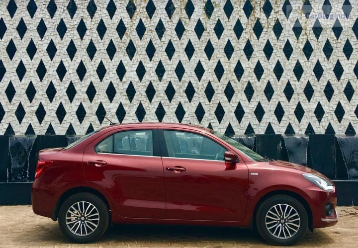 2017 maruti dzire review side profile