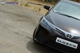2017 toyota corolla altis test drive review headlamp