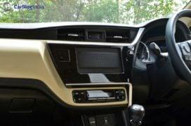 2017 toyota corolla altis test drive review centre console