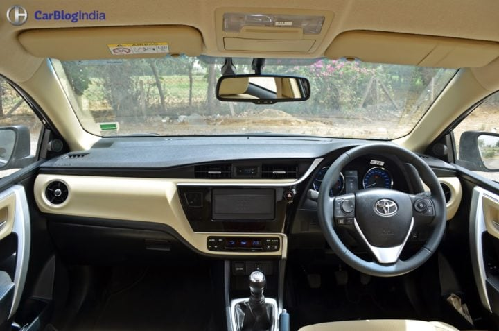 2017 toyota corolla altis test drive review interior dashboard