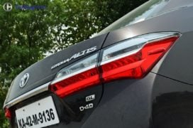 2017 toyota corolla altis test drive review tail light