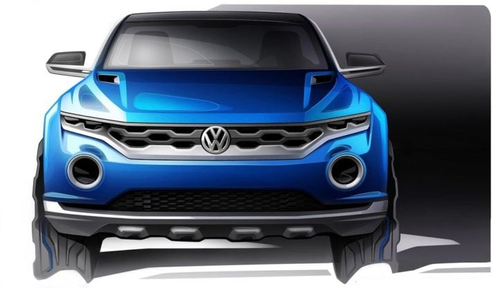 Volkswagen T-Roc SUV Concept-Images-front