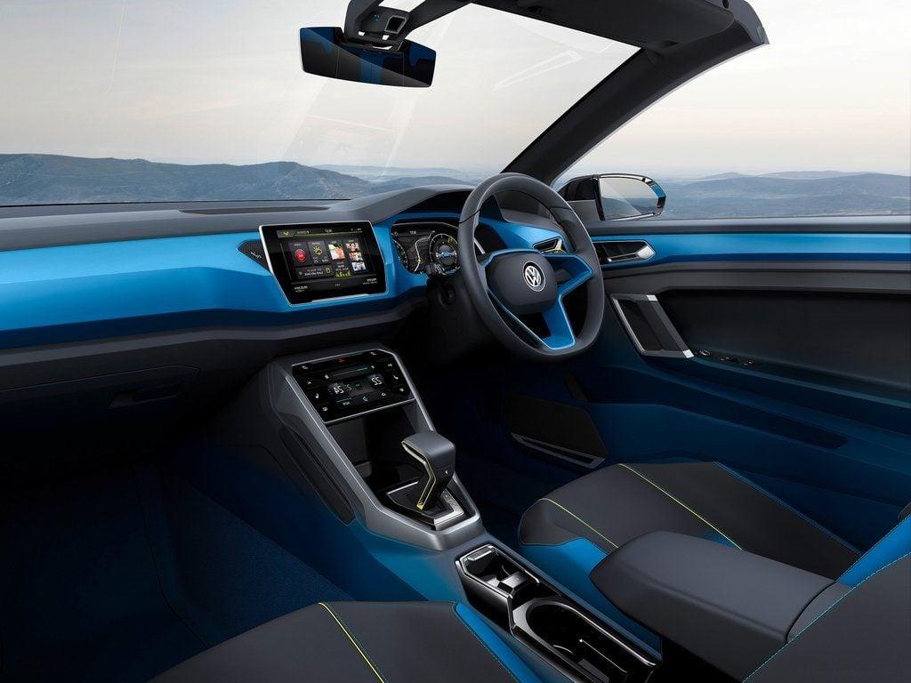 volkswagen t roc suv concept images interior carblogindia. Black Bedroom Furniture Sets. Home Design Ideas