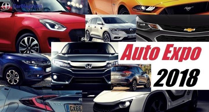 cars at auto expo 2018 maruti, hyundai, tata, honda, toyota