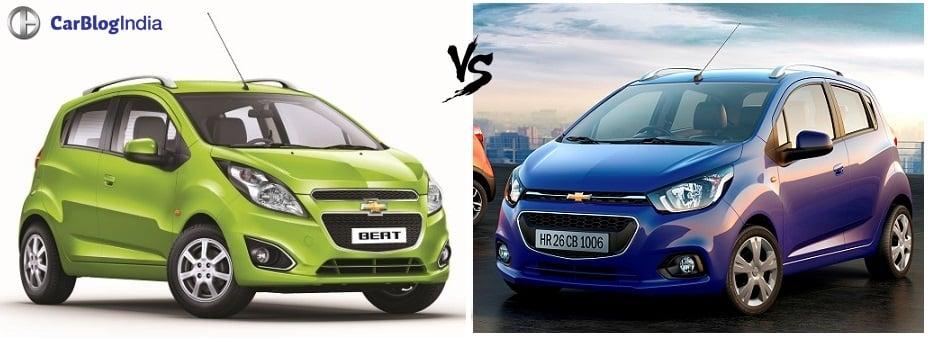 chevrolet beat old vs new comparison