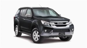 isuzu mu x india images colours cosmic black