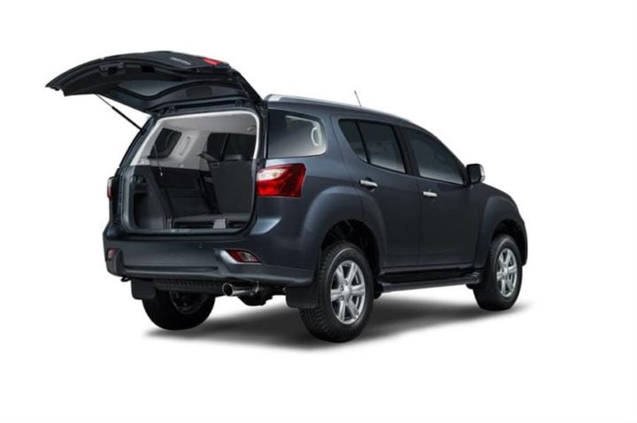 isuzu mu x india images rear angle boot space