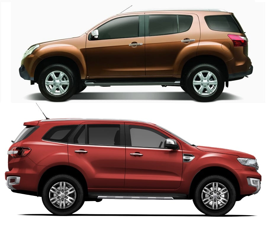 Isuzu MU X vs Ford Endeavour Comparison Review with Prices ...