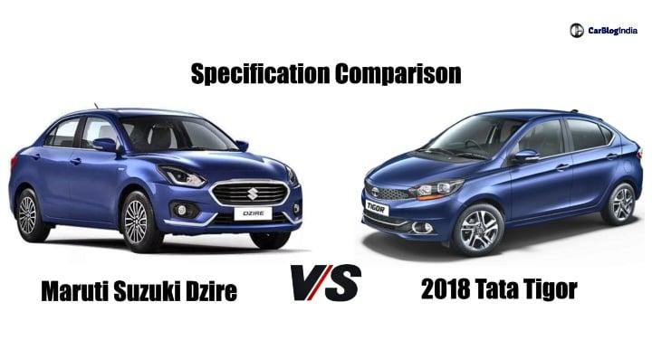 Maruti Dzire vs Tata Tigor – Specification Comparison