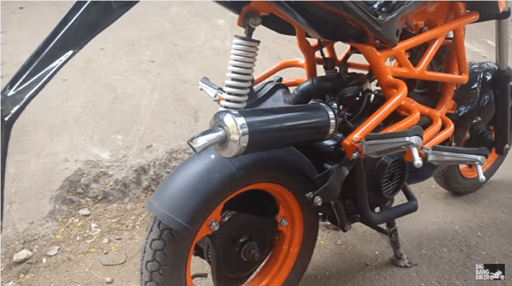 modified tvs scooty pep ktm duke 125 images